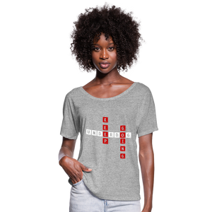 Women's Flowy T-Shirt - heather gray