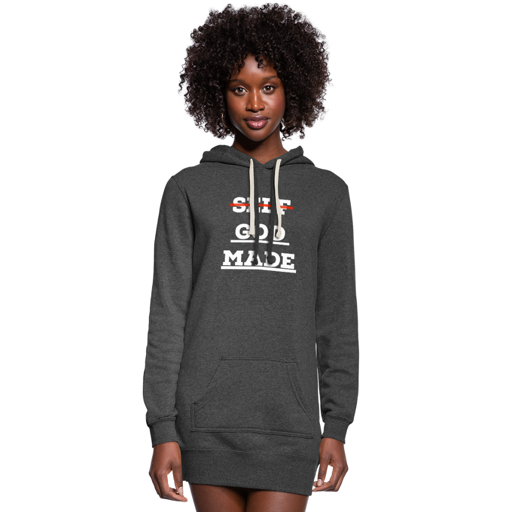 Women's God-Made Hoodie Dress - heather black