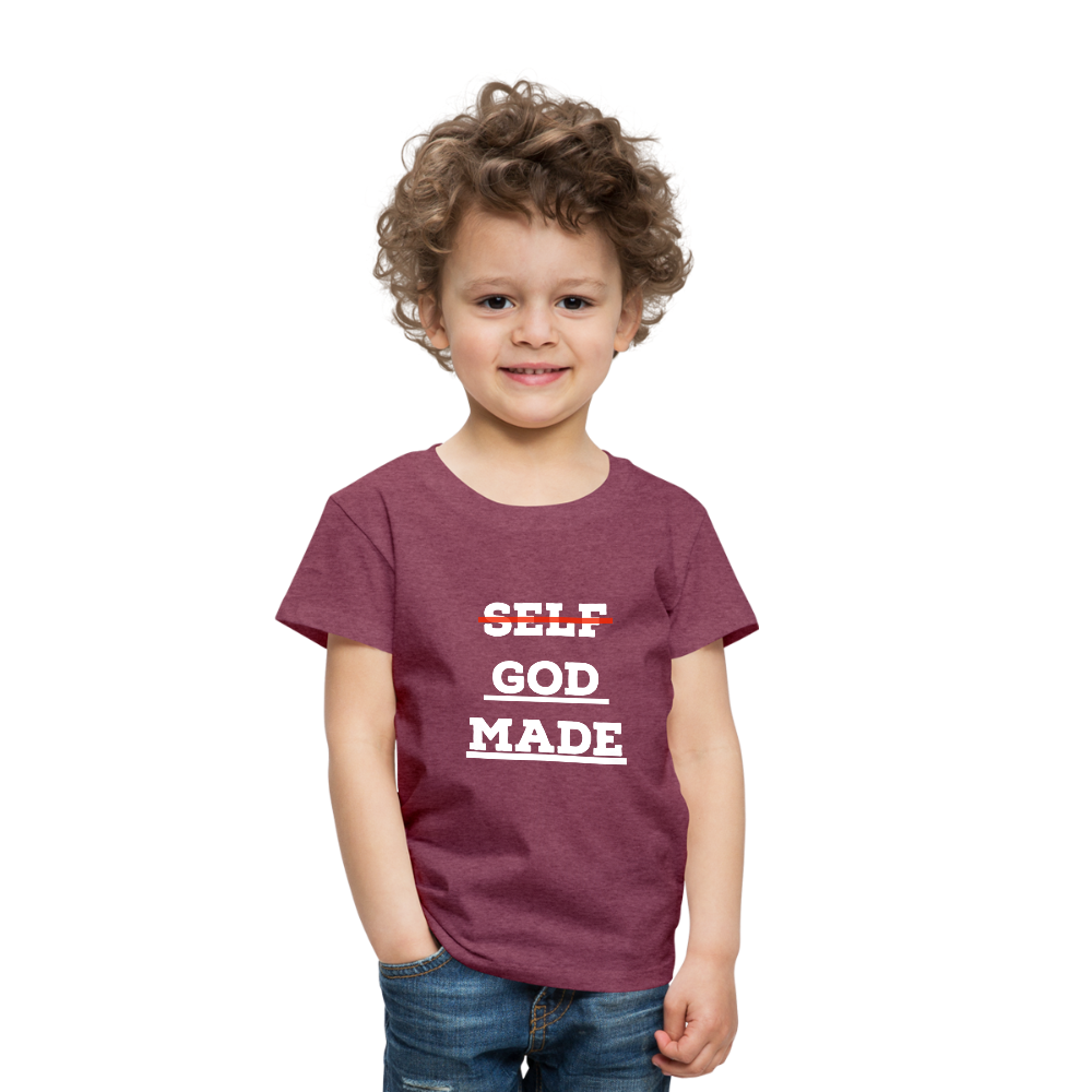 Toddler God-Made Premium - heather burgundy