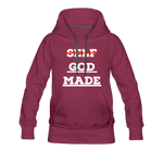 Load image into Gallery viewer, Women's God-Made Premium Hoodie - burgundy