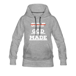 Load image into Gallery viewer, Women's God-Made Premium Hoodie - heather gray