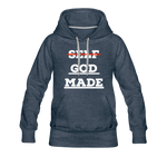 Load image into Gallery viewer, Women's God-Made Premium Hoodie - heather denim