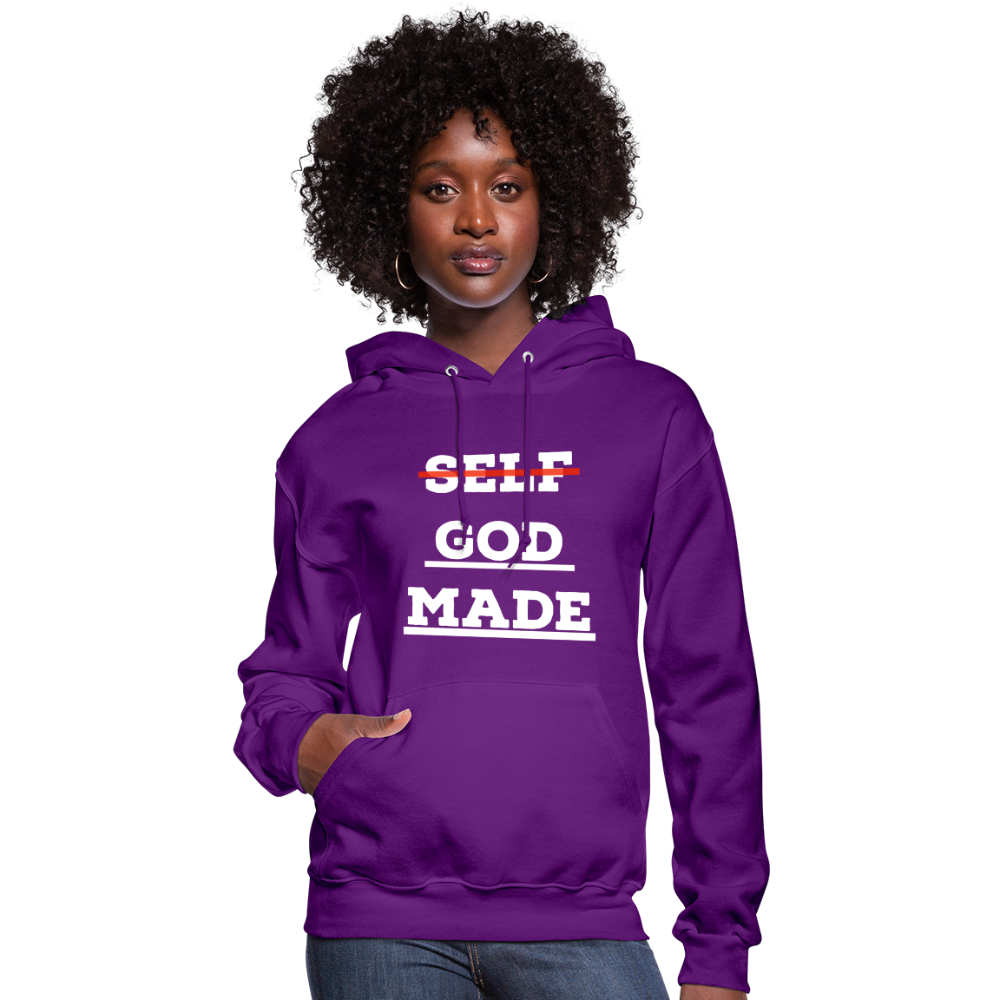 Women's God-Made Hoodie - purple