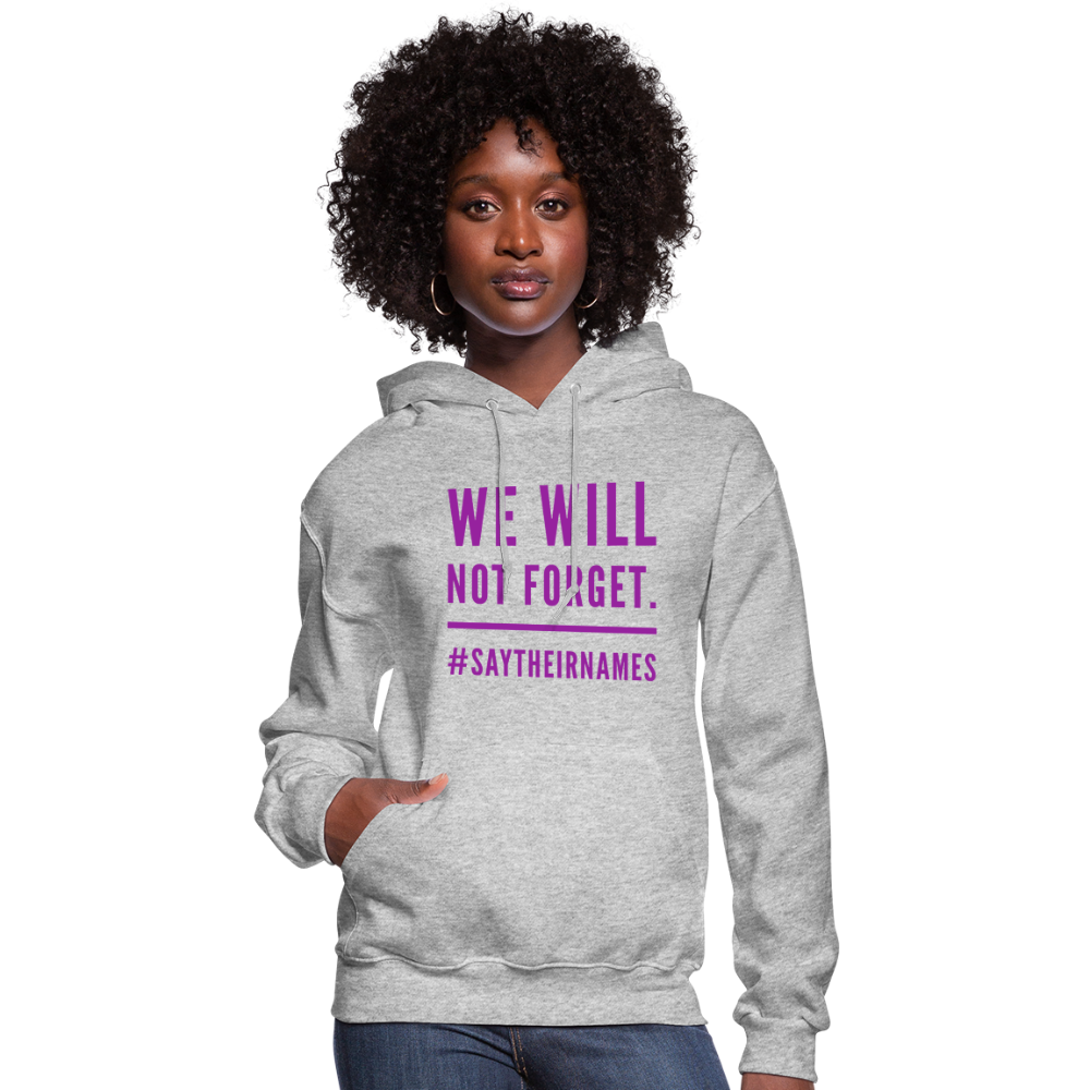 Women's Never Forget Hoodie - heather gray