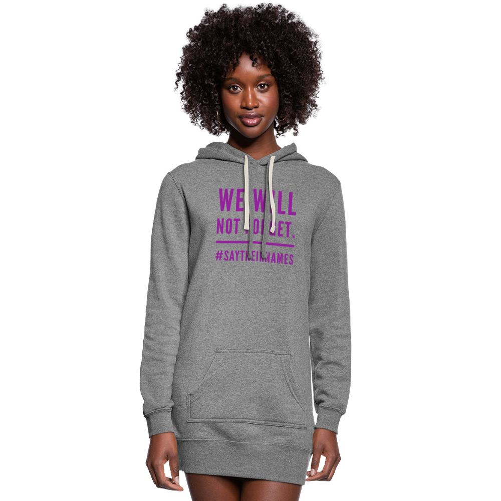 Women's Never Forget Hoodie Dress - heather gray