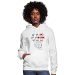 Load image into Gallery viewer, Women's Let Us Live Hoodie - white