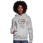 Load image into Gallery viewer, Women's Let Us Live Hoodie - heather gray