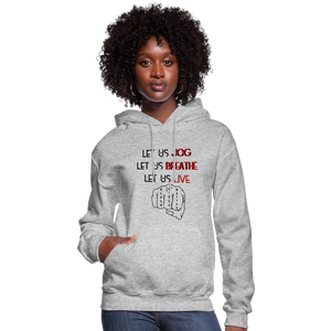 Women's Let Us Live Hoodie - heather gray