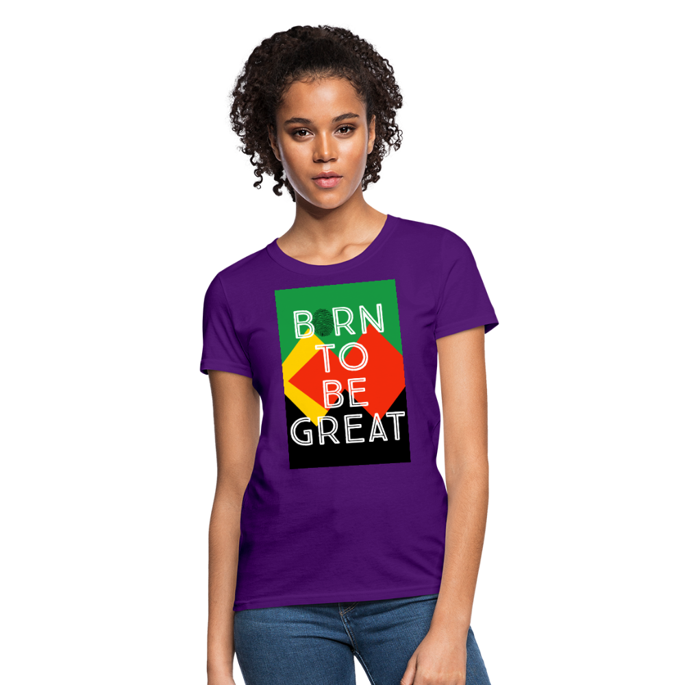 Women's Born To Be Great - purple