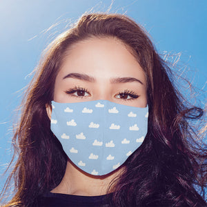 Cloudy Printed Mask For Men and Women