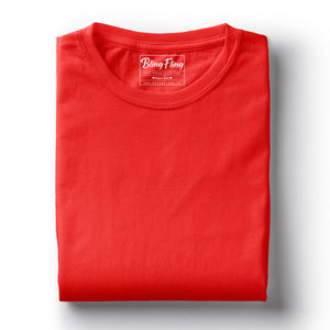 Men's Premium Round Neck Plain T-Shirt Chilli Red