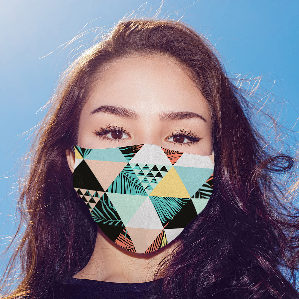 Beach Triangle Printed Mask For Men and Women