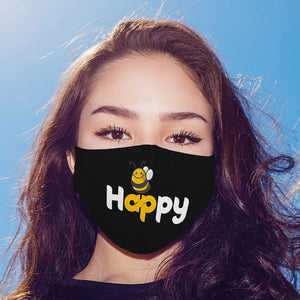 Bee Happy Printed Mask For Men and Women