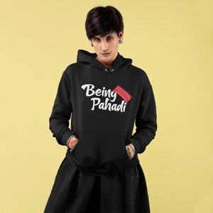 Being Pahadi Premium Unisex Hoodie. Get Being Phadi Hood only at Bling Fling.