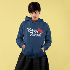 Being Pahadi Premium Unisex Navy Blue Hoodie