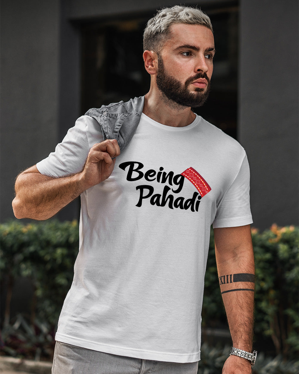 Being Pahadi Men's Round Neck T-Shirt
