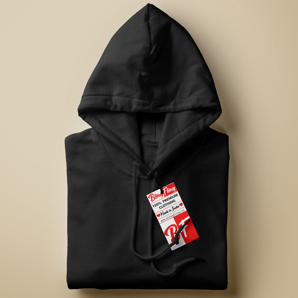 Black Premium Unisex Hooded Sweatshirt