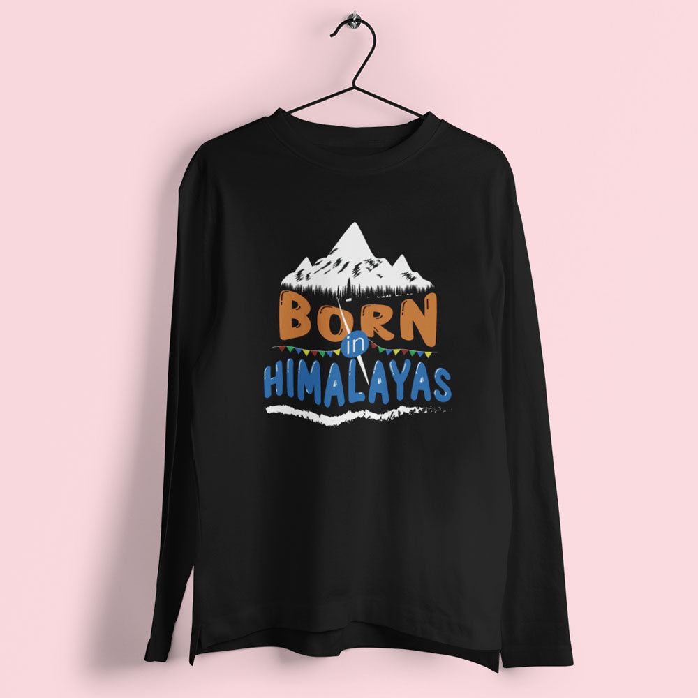 Born In Himalayas Men's Long Sleeve T-Shirt