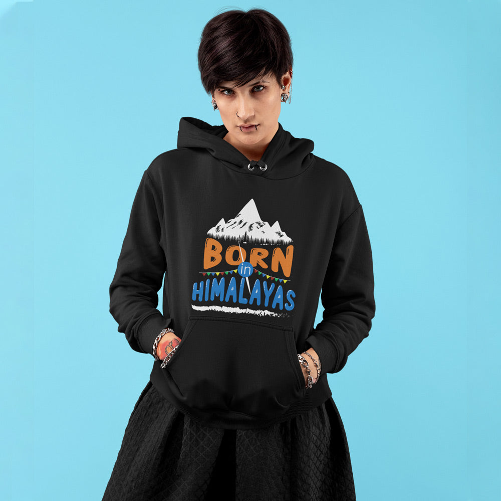Born In Himalayas Premium womens Hoodie | Bling Fling India