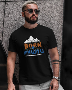 Born In Himalayas Men's Round Neck T-Shirt