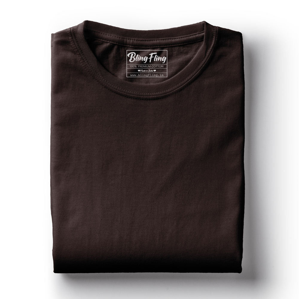 Coffee Brown Premium Tee