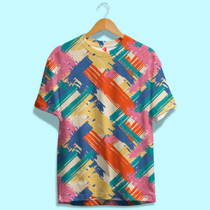 Multi Color Brush Strokes Unisex T-Shirt | Bling Fling India