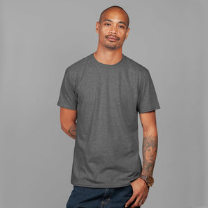 Men's Premium Round Neck Plain T-Shirt Charcoal
