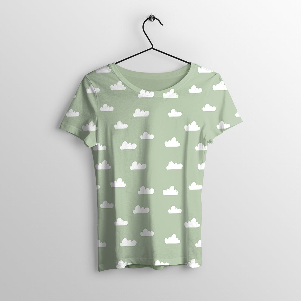Cloudy Printed T-Shirt for Women