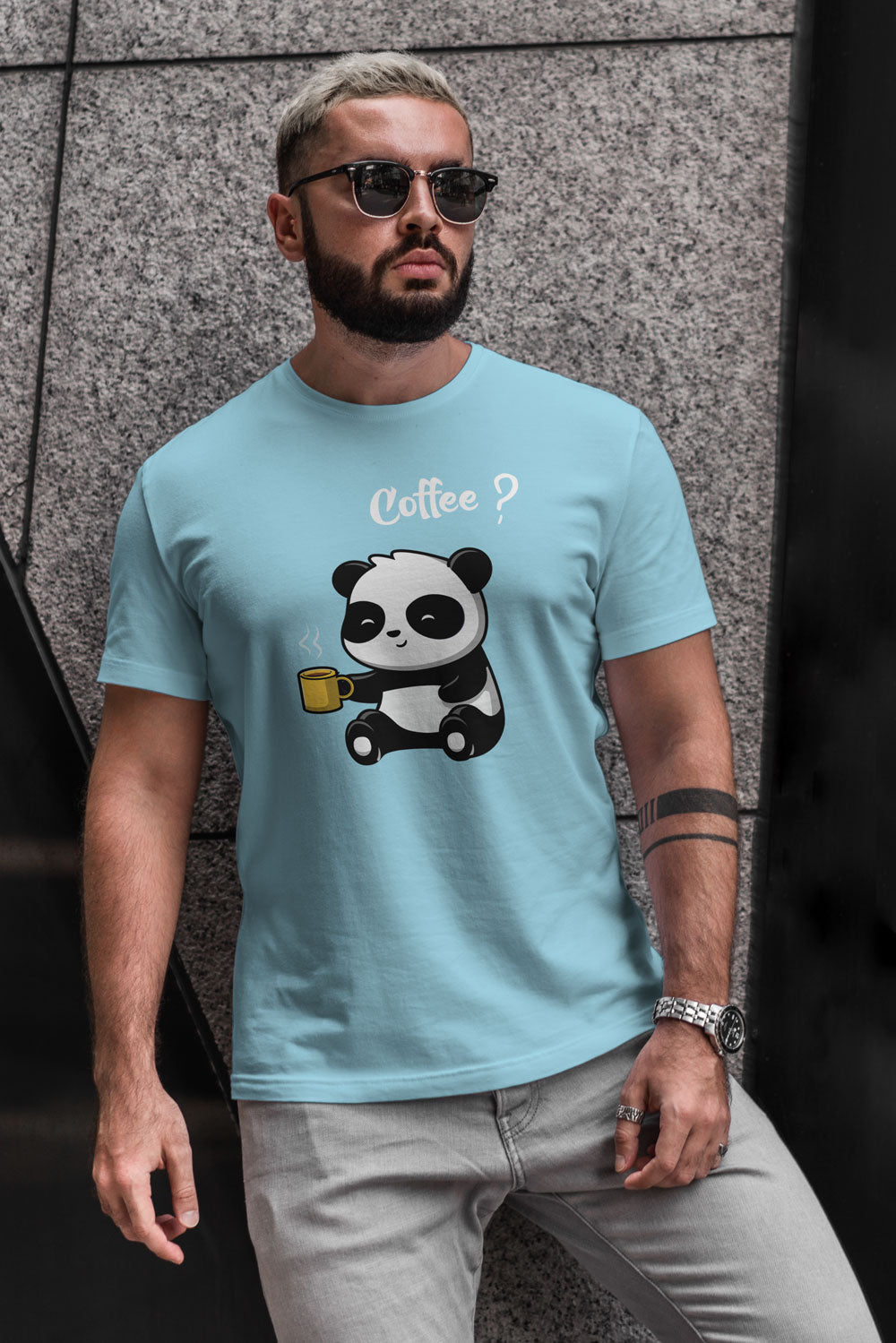 Coffee Panda T-Shirt For Men