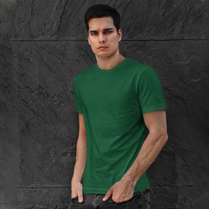 Men's Premium Round Neck Plain T-Shirt Dark Green