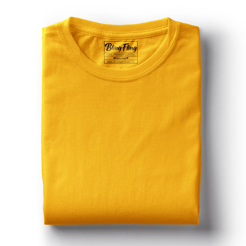 Golden Yellow Premium Tee