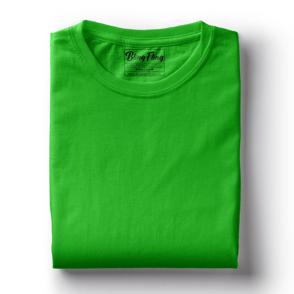 Men's Premium Round Neck Plain T-Shirt Green