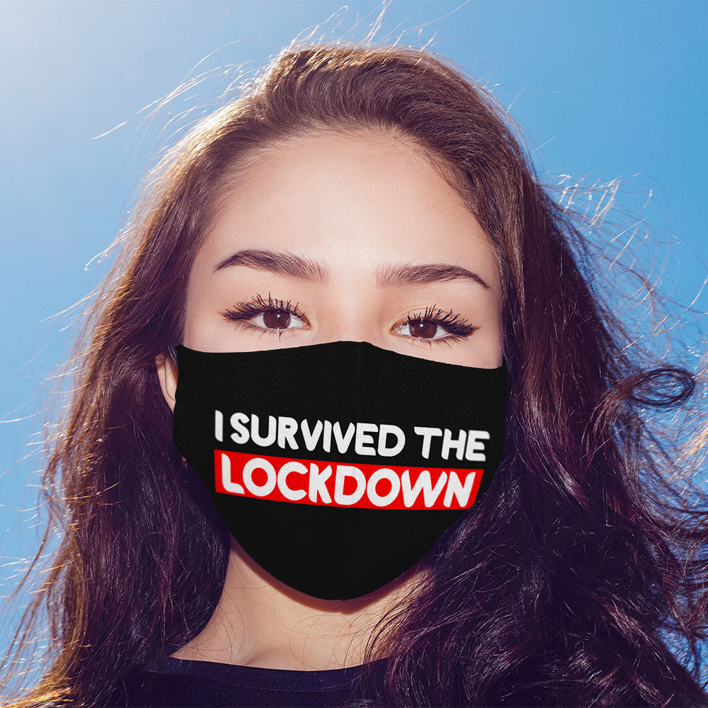 I Survived the Lockdown Printed Mask For Men and Women