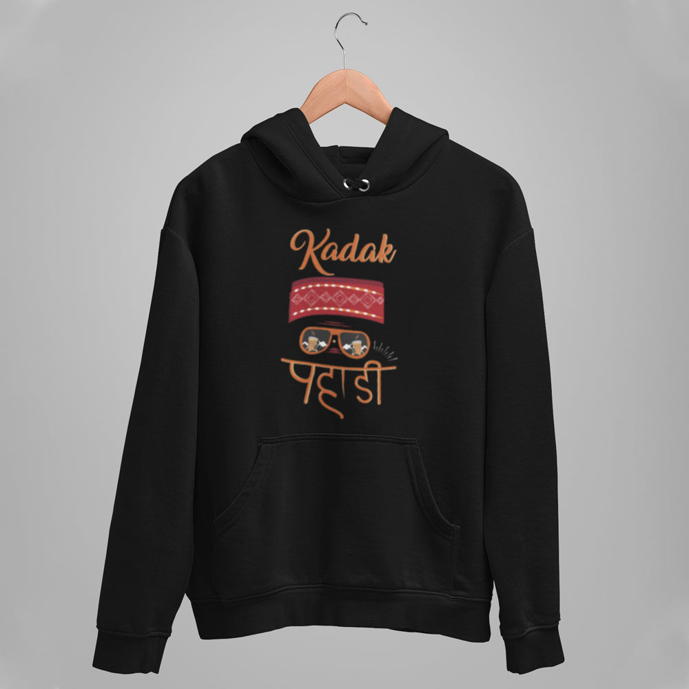 Kadak Pahadi  Premium Unisex Hooded Sweatshirt. Get Kadak Pahadi Hoodies only at Bling Fling. Free Shipping on All Orders and FREE Mask.