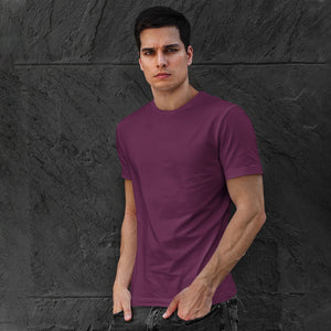 Men's Premium Round Neck Plain T-Shirt Maroon