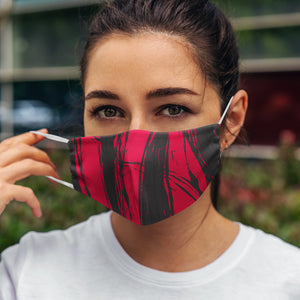 Red Wolf Unisex 3 Layer Mask