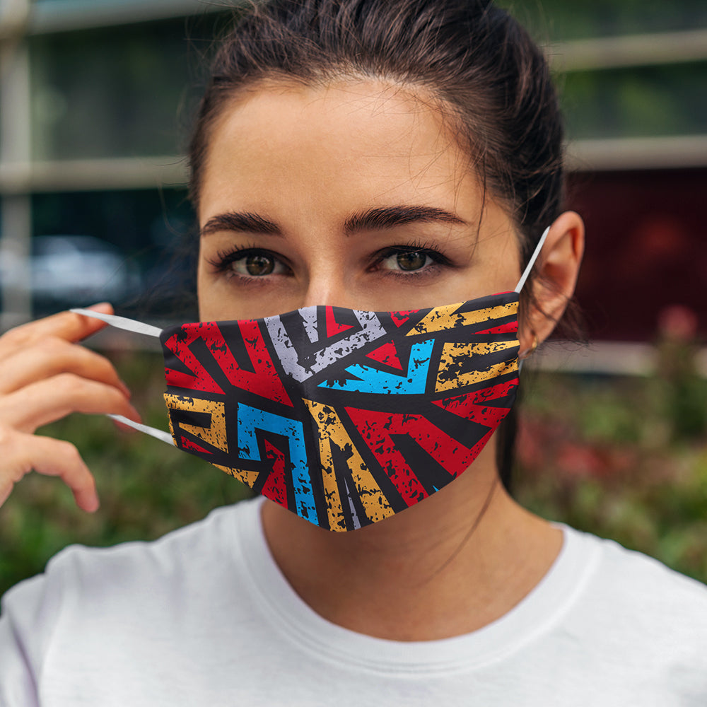 Abstract Unisex 3 Layer Mask