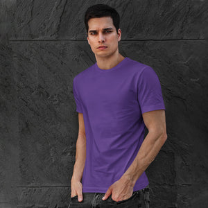Men's Premium Round Neck Plain T-Shirt Purple
