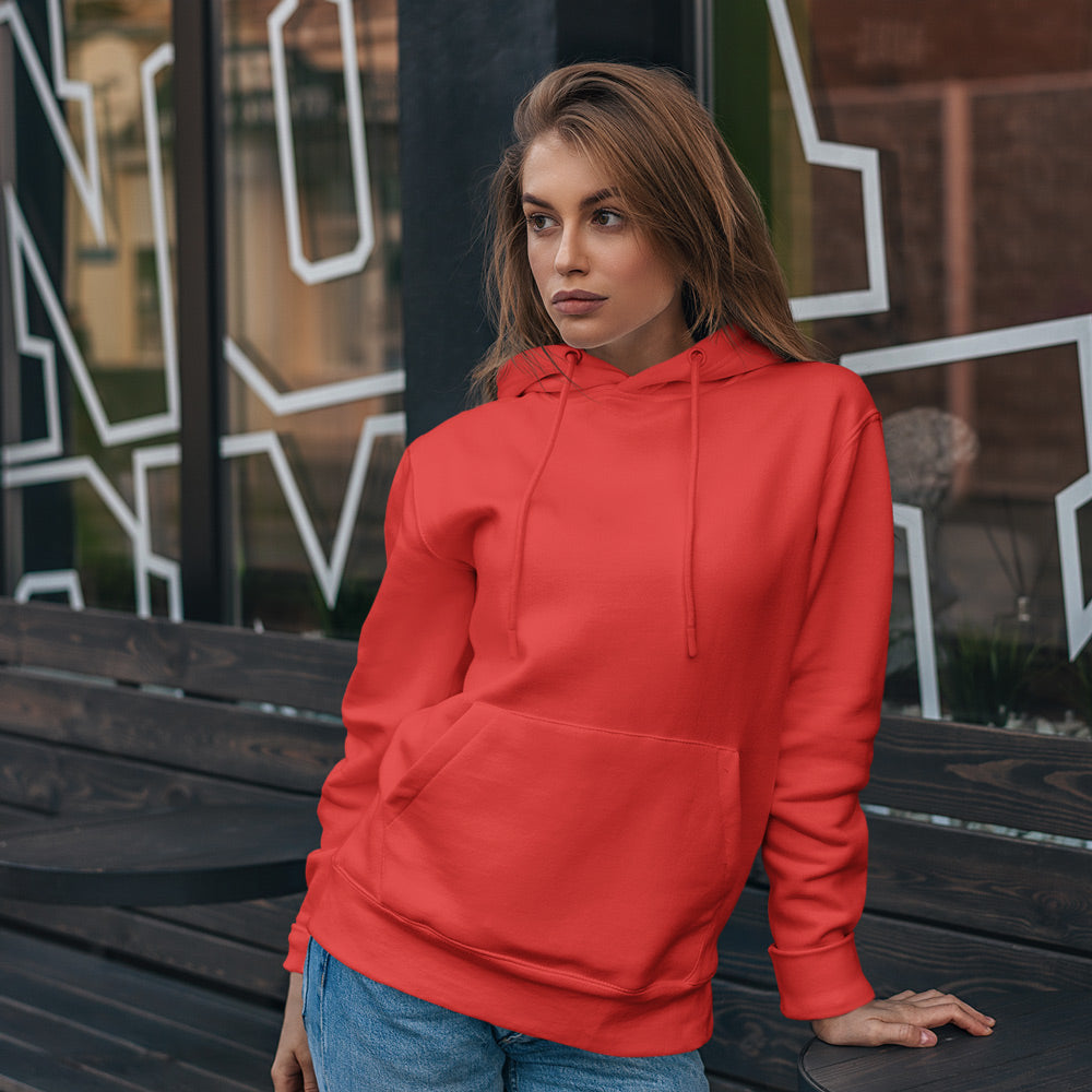 Chilli Red Premium Unisex Hooded Sweatshirt