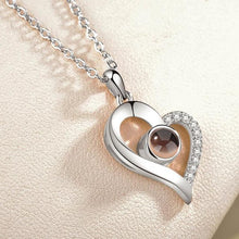 Load image into Gallery viewer, Love Projection Heart Necklace (I Love You in 100 Languages)