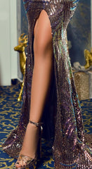 Multicolour Sequin Maxi Dress By IdealDresses.co.uk