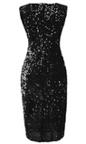 Sexy Women Sleeveless Long Sequin Dress By IdealDresses.co.uk
