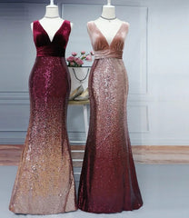 Mermaid Burgundy Long Evening Dress By IdealDresses.co.uk