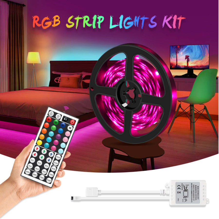 TikTok LED Strip Lights (Remote Control Included)