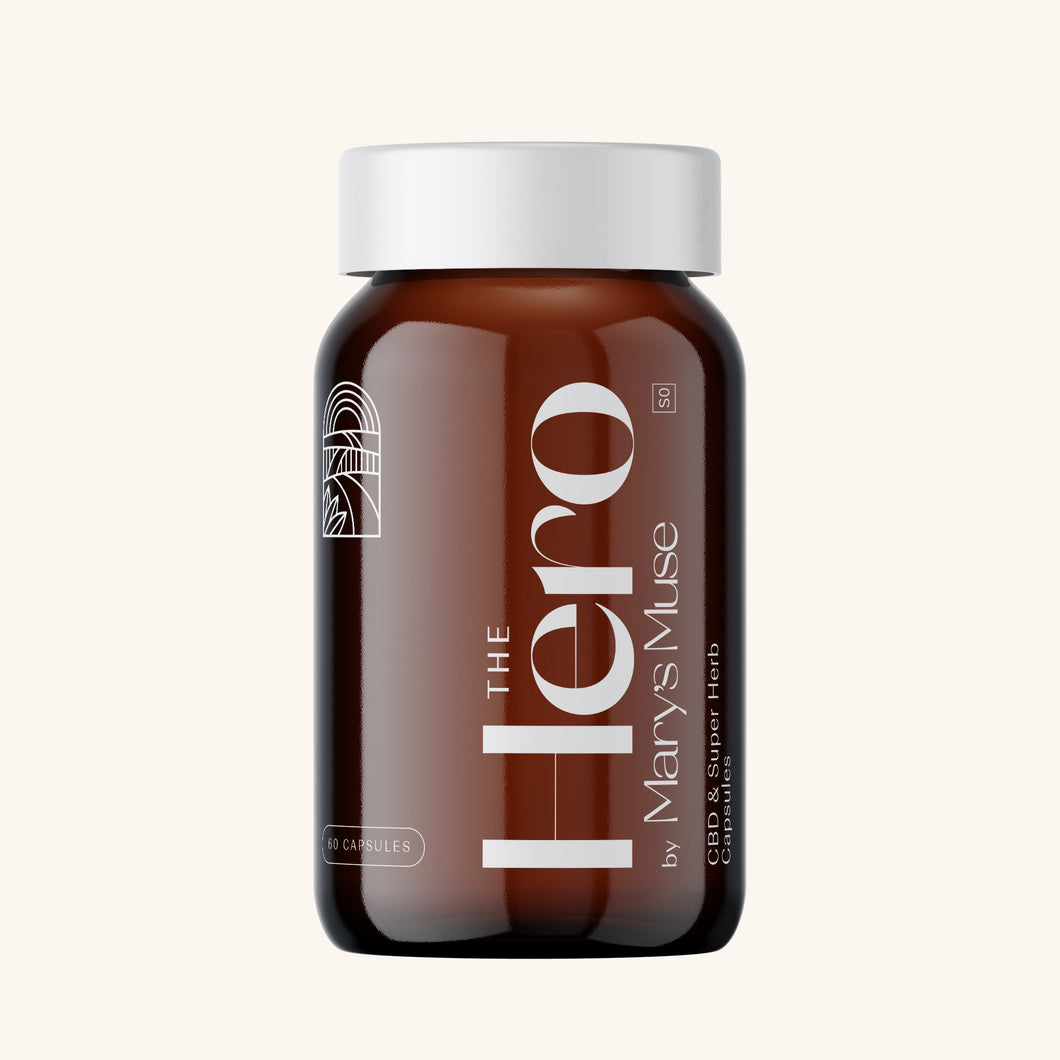 The Hero CBD & Super Herb Capsules