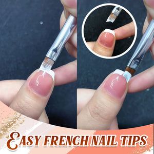 French Half Moon Polish Brush