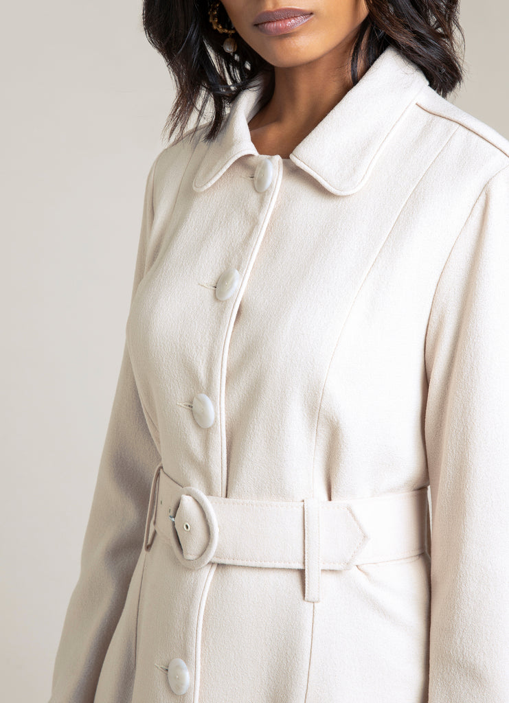 Margurite Beige  Tailored Coat