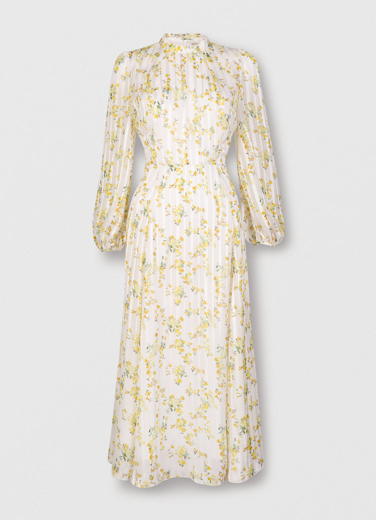 Sonia Lemonade Blouson Sleeve Midi Dress