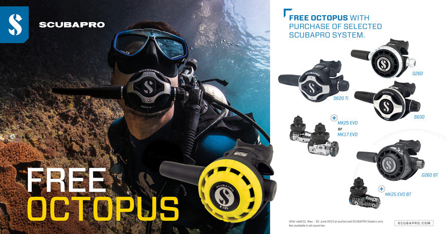 Scubapro Free Octopus Offer 2109
