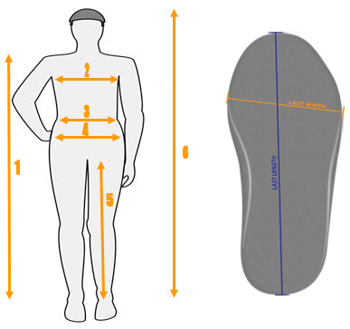 Mares XR Drysuit Size Guide Diagram
